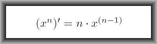 Derivata functiei putere