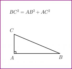 Teorema lui Pitagora (formula si figura)